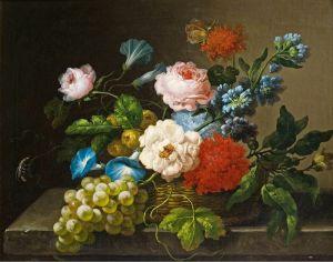 Барокко Натюрморт с цветами и фруктами 2