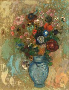 Редон Одилон Цветы в голубой вазе