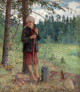 Богданов-Бельский Николай Девочка в лесу
