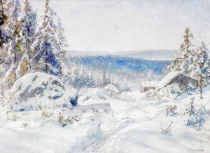 Шультцберг Ансельм Зимний пейзаж №3