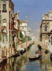 Санторо Рубенс Венецианский канал со Скуола Гранде