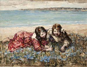 Хорнел Эдвард Аткинсон Сбор цветов на берегу моря