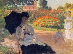 Моне Клод Камилла Моне в саду