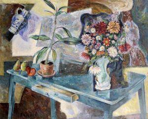 Авангард Натюрморт с цветами и фруктами