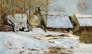 Мофра Максим Дачи, покрытые снегом
