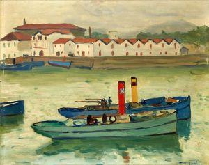 Постимпрессионизм Сен-Жан-де-Люз, рыбацкие лодки