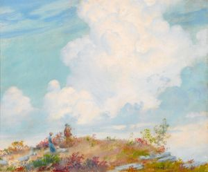 Каран Чарльз Кортни Розовое облако над горой