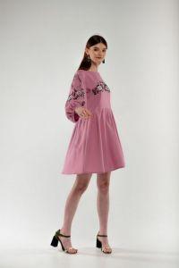 Женские вышиванки Платье вышиванка Зозулька пудра