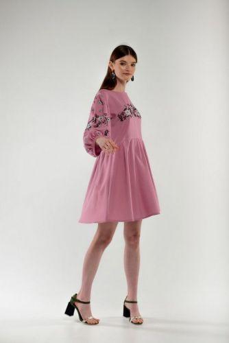 Платье вышиванка Зозулька пудра - изображение 1