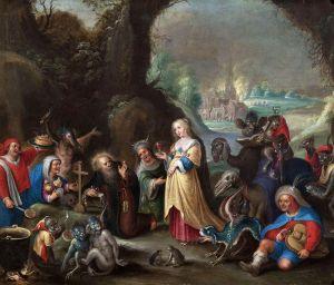 Баллье де Корнелис Старший Искушение святого Антония