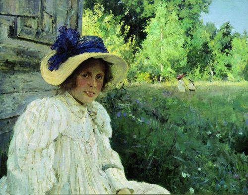 Летом. Портрет Ольги Федоровны Серовой. Домотканово - изображение 1