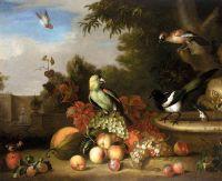 Натюрморт с фруктами и птицами