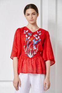 """Модний жіночий одяг """"Квезаль"""" червона блуза"""