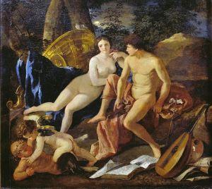 Пуссен Никола Венера и Меркурий