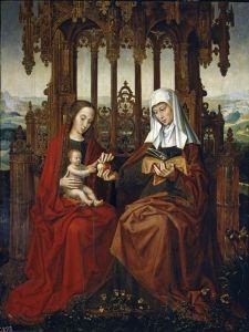 Бенсон Амброзиус Святая Анна с Иисусом-ребенком и Богородицей