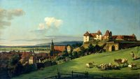 Вид на Пирну из замка Зонненштейн