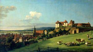 Рококо Вид на Пірну з замку Зонненштейн