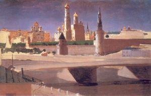 Куинджи Архип Москва. Вид на Кремль со стороны Замоскворечья