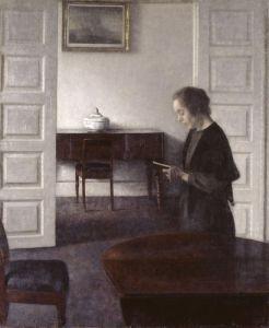 Хаммерсхей Вильгельм Интерьер с читающей женщиной