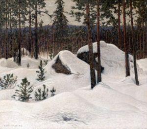 Шультцберг Ансельм Зимний пейзаж №6