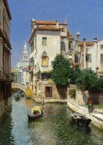 Санторо Рубенс Солнечный день на венецианском канале