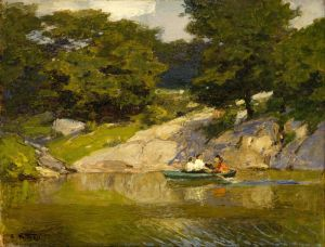 Потхаст Эдуард Генри Boating in Central Park