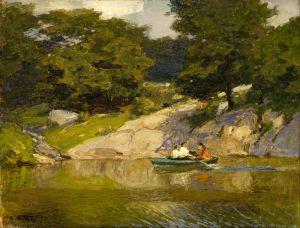 Печатные картины на холсте Boating in Central Park