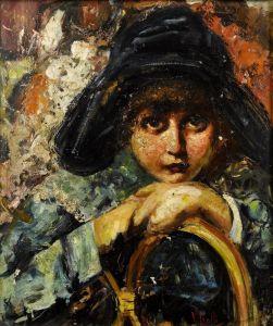 Иролли Винченцо Девушка в шляпе