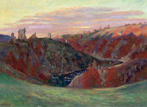 Гийомен Арман Руины замка в Крозан в закате