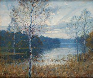 Йоханссон Карл Солнечный осенний день на озере