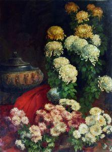 Роби Жан-Батист Натюрморт с хризантемами