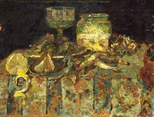 Натюрморт с устрицами и рыбой