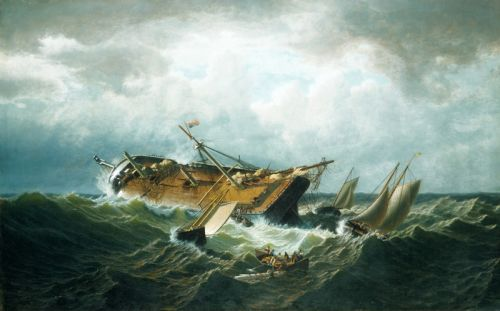 Погибший корабль на побережье Нентакету