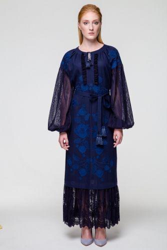 Платье Мольфарка темносиняя