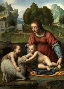 Луини Бернардино Мадонна с младенцем и юным Иоанном Крестителем