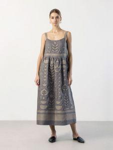 Модний жіночий одяг Лляний сарафан з аплікацією Planta