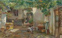 Работа и игра на веранде