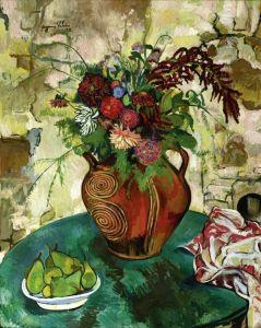 Постимпрессионизм Натюрморт с цветами и фруктами №2