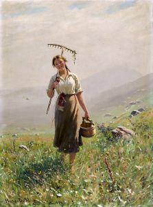 Даль Ханс Молодая женщина на лугу