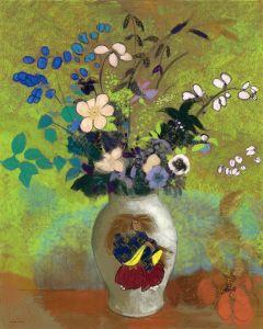 Редон Одилон Цветы в японской вазе с воином