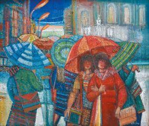 """Украинское современное искусство Из цикла """"Женщины и зонтики"""""""