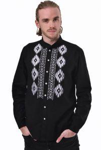 Бренди Чоловіча вишита сорочка «Звага» чорна