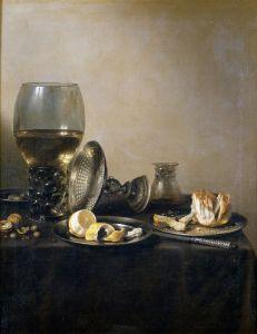 Барокко Натюрморт с рёмером, таццой, лимоном и др. предметами