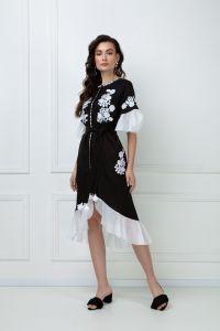 FOBERINI «Дейзи» черное платье-миди