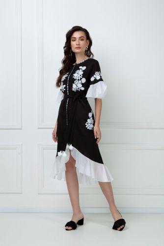 «Дейзи» черное платье-миди