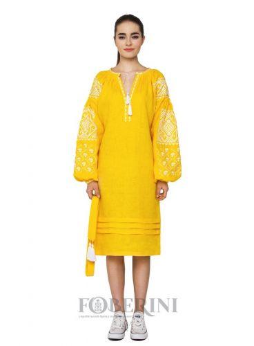 "Платье вышиванка ""Желтое море"""