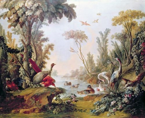 Озеро с птицами