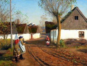 Брендекильде Ганс Андерсен Улица в деревне