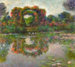 Моне Клод Розовая арка в Живерни