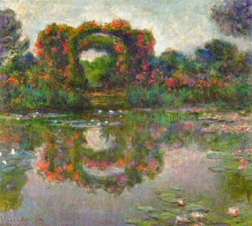 Розовая арка в Живерни